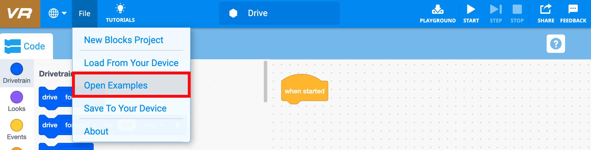 Ejemplos de archivos abiertos