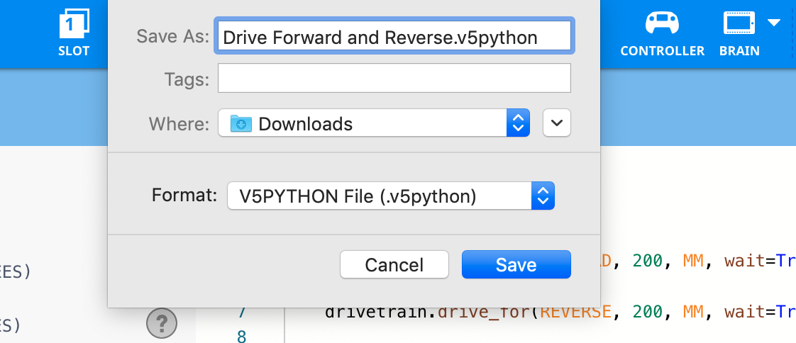 Save window python