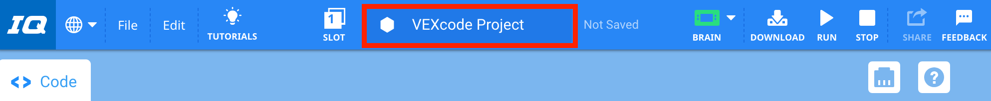 Project name Window
