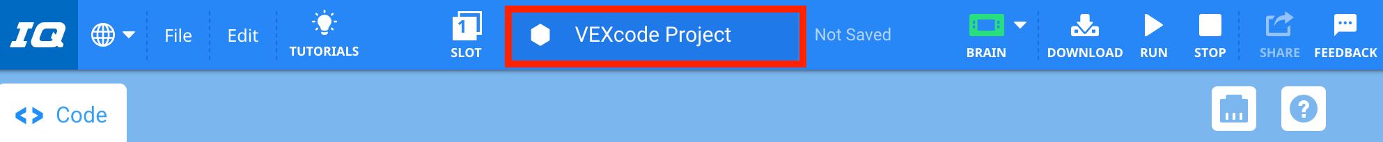 Ventana de nombre de proyecto