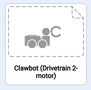 Clawbot Drivetrain 2 motores