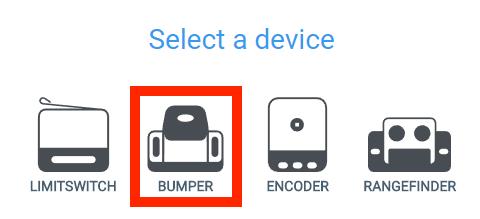 selecteer bumper