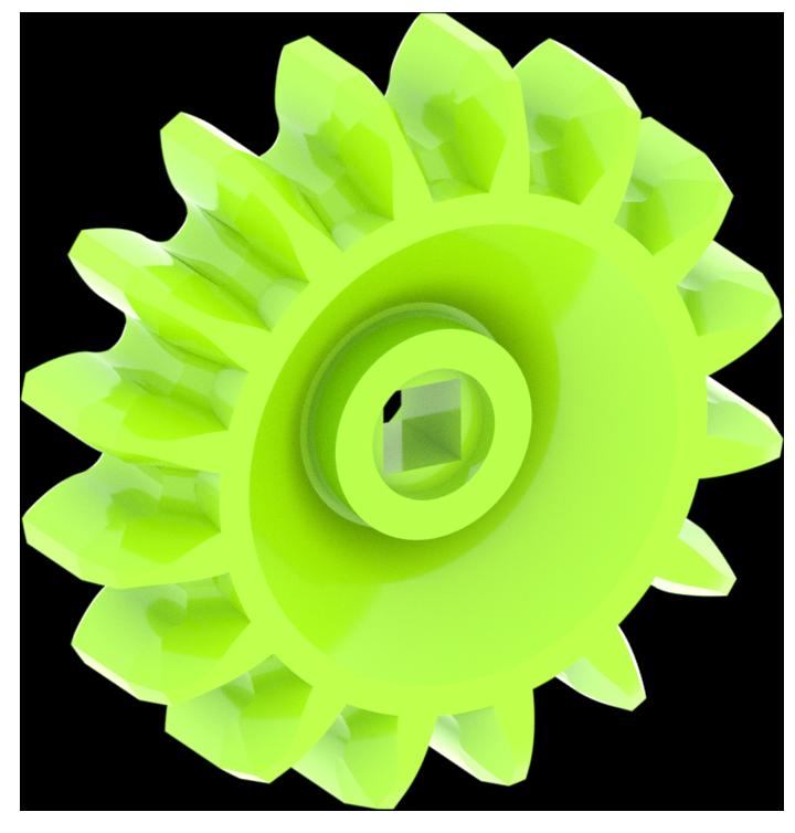 Engranaje verde